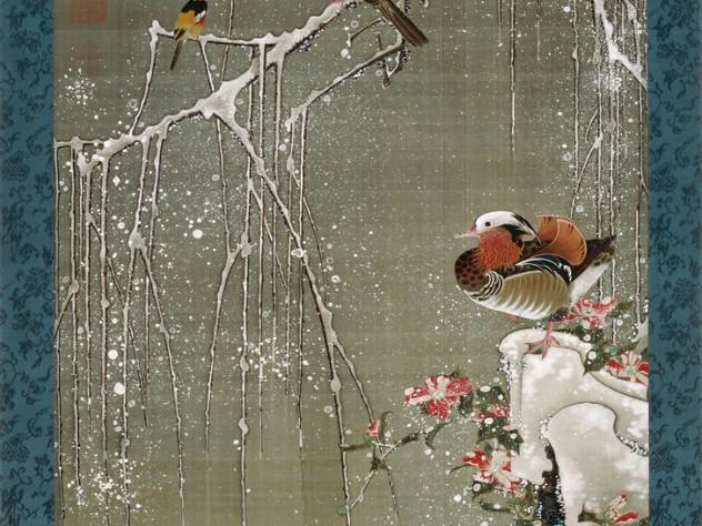 <i>Mandarin Ducks in Snow </i>(1759)