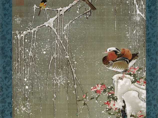 <i>Mandarin Ducks in Snow </i>(1759)