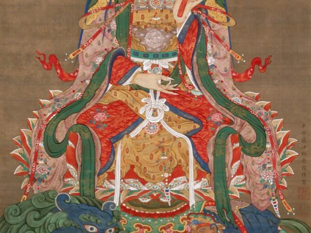 <i>Bodhisattva Mañjuśrī </i>, from <i>Śākyamuni Triptych</i> c. first half of the 1760s