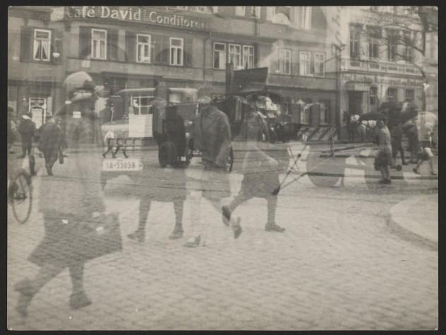<i>Untitled</i> (Street Scene, Double Exposure, Halle), 1929–30
