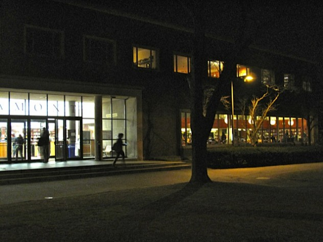 The occupation of Lamont Library Café stretched into Monday night.