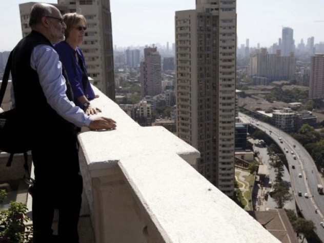 She also received an architectural tour of the city from Rahul Mehrotra, chair of the department of urban planning and design at the Graduate School of Design.