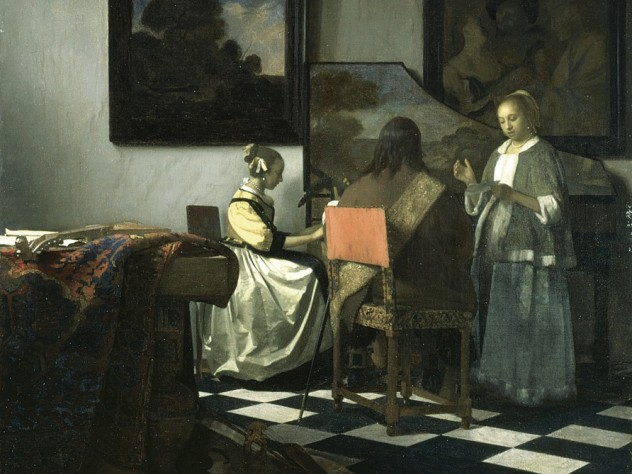 <i>The Concert</i> by Johannes Vermeer (1632-1675). Now missing, it is one of only 34 verified Vermeers.
