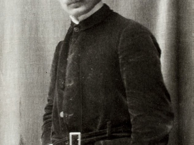 A portrait photograph of Gibran himself, taken around 1909 or 1910