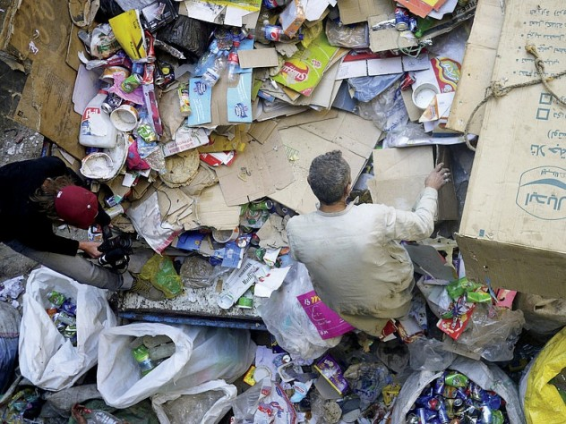 """The Manishet Nasser district of Cairo, Egypt, also known as """"Garbage City,"""" 2009"""