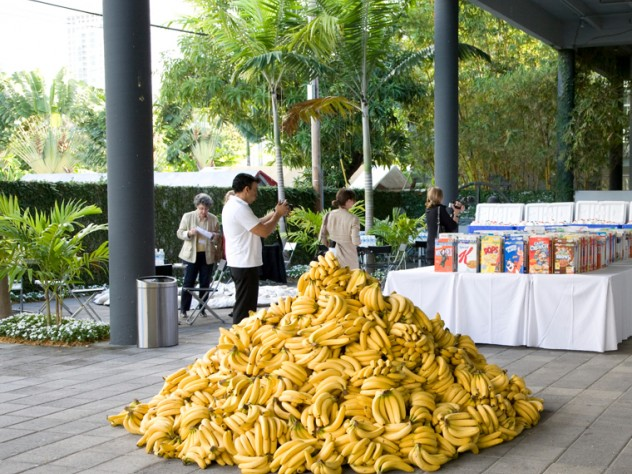 A pile of bananas at <i>American Morning</i>