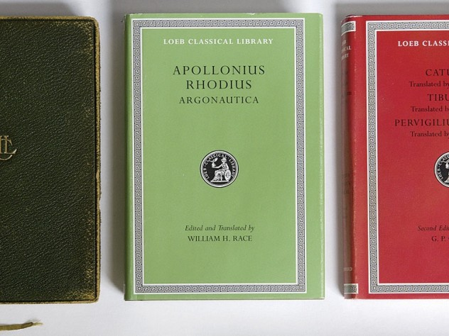 Three of the hundreds of volumes in the Loeb Classical Library