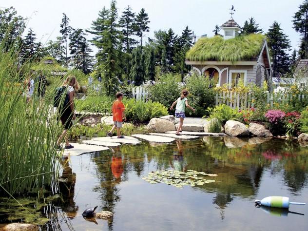 Part of the children's arena at Coastal Maine Botanical Gardens