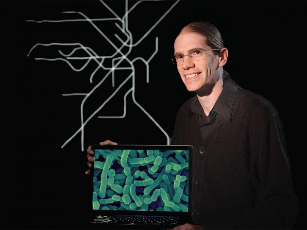 Curtis Huttenhower studied microbes in Boston's public-transit system to understand how the bugs that live on and in us—for better or worse—move from one person to another.