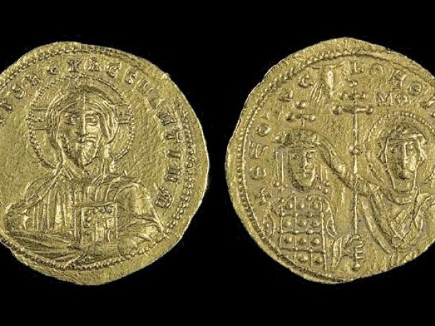 Byzantine coins at the Sackler Museum