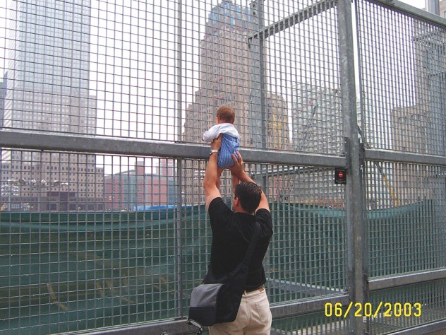 A former resident of the neighborhood and his son revisit the World Trade Center site for the first time.