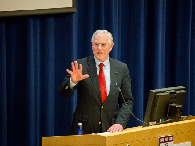 J. Michael McGinnis, keynote speaker at the Harvard T.H. Chan School of Public Health symposium on the report of the Dietary Guidelines Advisory Committee