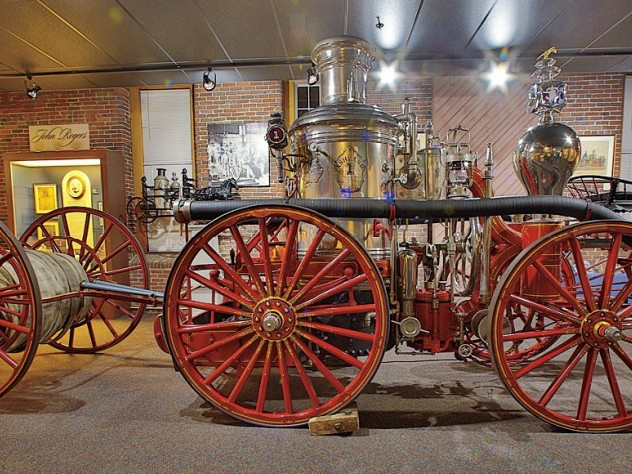 A steam fire engine at the Millyard Museum