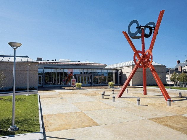 At the Currier Museum of Art: <i>Origins</i> (2001-2004), by Mark Di Suvero, highlights the entrance.