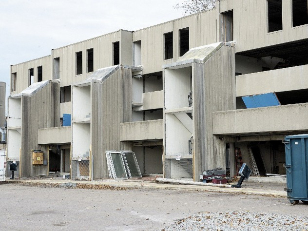Demolition of the Charlesview apartments