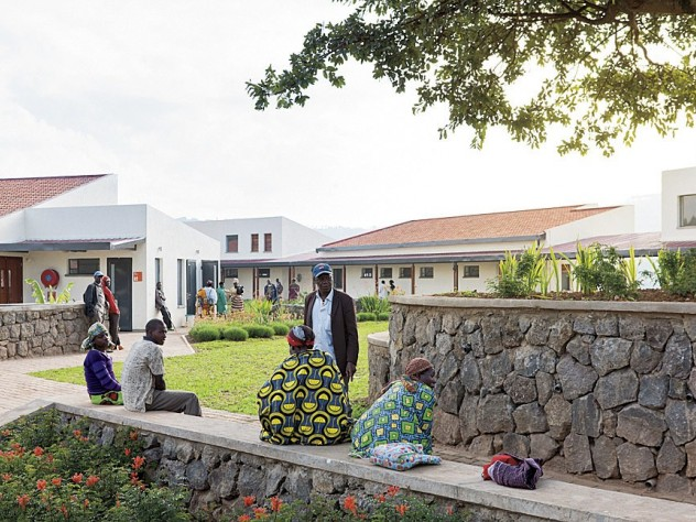 Outdoor areas at MASS Design's Butaro Hospital