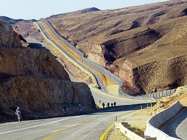 A shot from the Eilat Triathlon