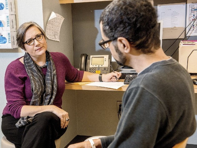 """Palliative-care physician Vicki Jackson treated Eric Buck during and after his cancer therapy and considers him a """"graduate"""" as a survivor on the path to healing and strength."""