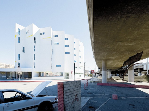 The New Carver Apartments, a much-lauded architectural landmark in Los Angeles, offers 97 units of permanent housing for the formerly homeless.