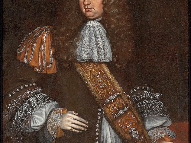 George Downing, A.B. 1642, the probable subject of this portrait by Thomas Smith, was a member of Harvard's first graduating class. His checkered career in England led to a baronetcy and seat in Parliament.