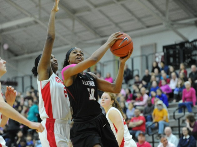 Destiny Nunley '17 scored 15 points and shot 7-11 from the field against Brown last Saturday to help the Harvard women's basketball team win its sixth consecutive game.