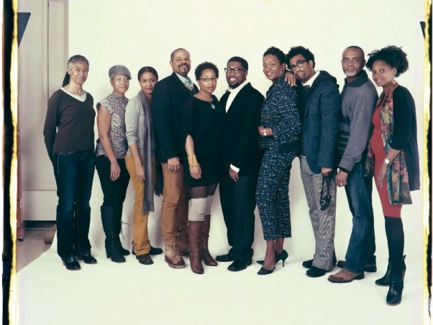 Members of the Dark Room Collective, photographed by Elsa Dorfman in 2013