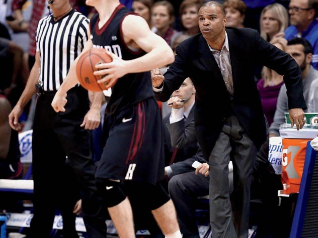 Coach Tommy Amaker is trying to shape a young Crimson squad, including freshman point guard Tommy McCarthy, shown in action against the University of Kansas.