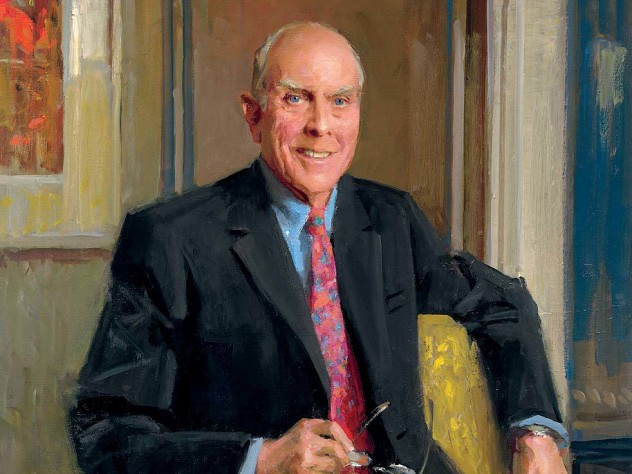 A portrait of John P. (Jack) Reardon Jr. '60 by Everett Raymond Kinstler