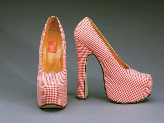 Gingham platform shoes, Vivienne Westwood, 1993