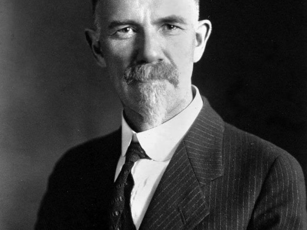 Charles Davenport, A.B. 1889, Ph.D. '92, a classmate of Prescott Hall, founded the Eugenics Record Office in 1910 and promoted ideas that led to the sterilization of Carrie Buck (next image).