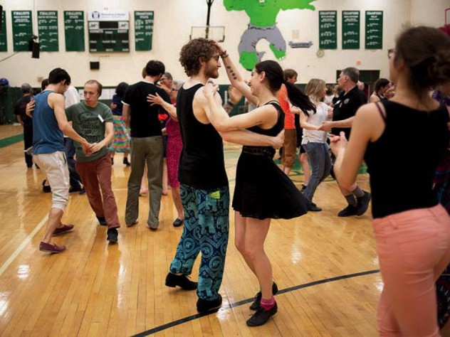 Dancing at the New England Folk Festival