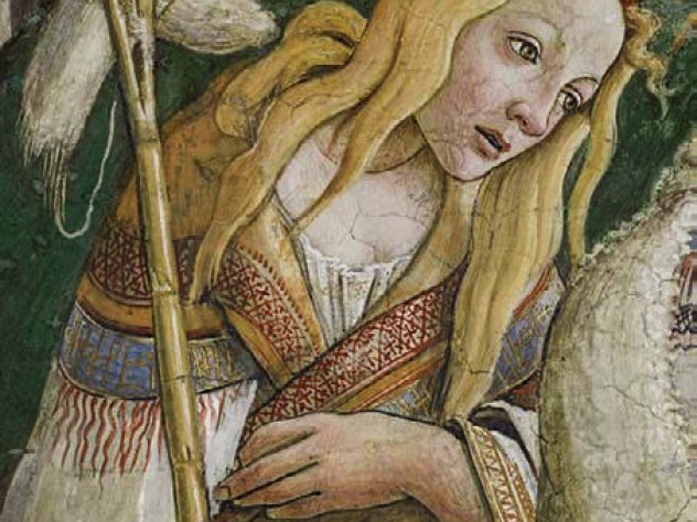 Botticelli image of a woman from the Sistine Chapel