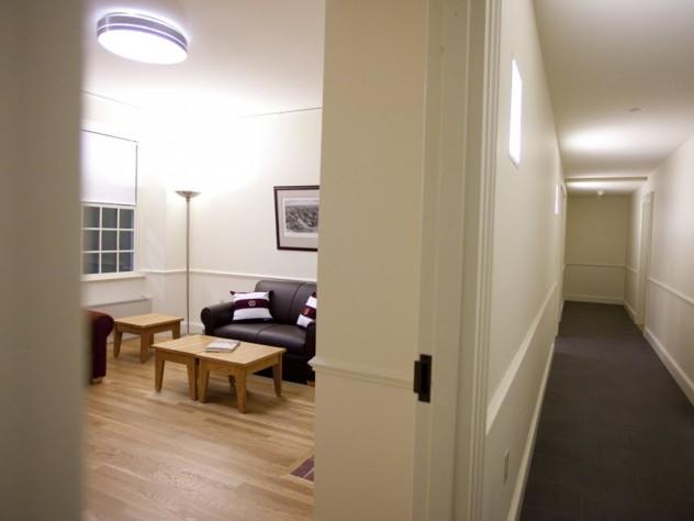 Hallway and common room