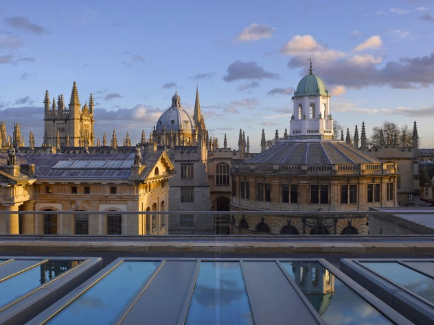 A view of Oxford from the Weston Library's roof terrace