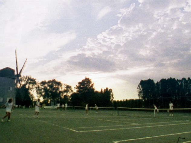 Tennis courts, Wainscott, Hamptons, New York