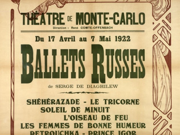 Poster for Diaghilev's Ballets Russes, 1922