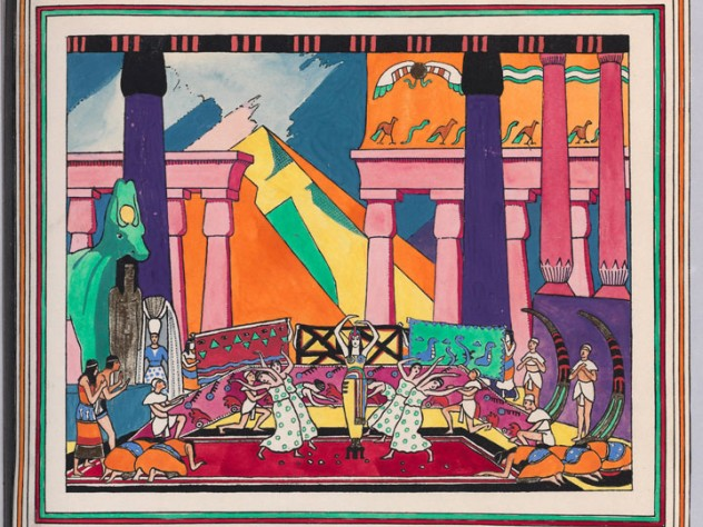 A 1920 drawing of a scene from <em>Cleopatra</em>, by Ethelbert White