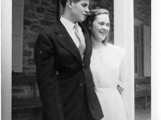 The Lynds in a wedding photograph