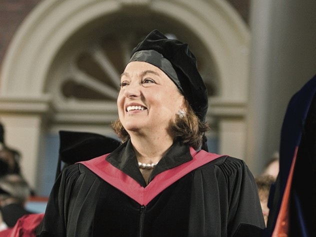 O'Neill radiates joy on the dais during the 2008 Commencement.