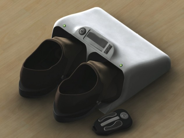 An early design concept for a vibrating insole to improve balance and sensation.