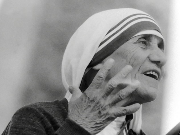 Mother Teresa delivers the Commencement address at Harvard University on June 10, 1982