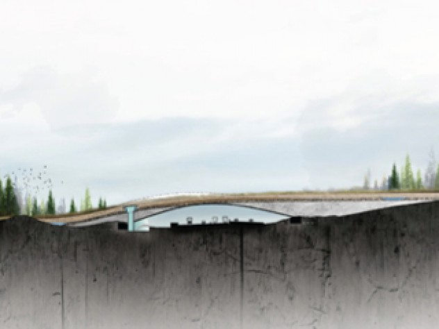 A longitudinal section from Zwarts & Jansma Architects