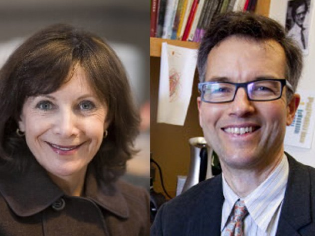 Diana Sorensen, dean of arts and humanities, and Robin Kelsey, chair, Harvard University Committee on the Arts