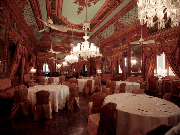 A hotel conference room in the Falaknuma Palace