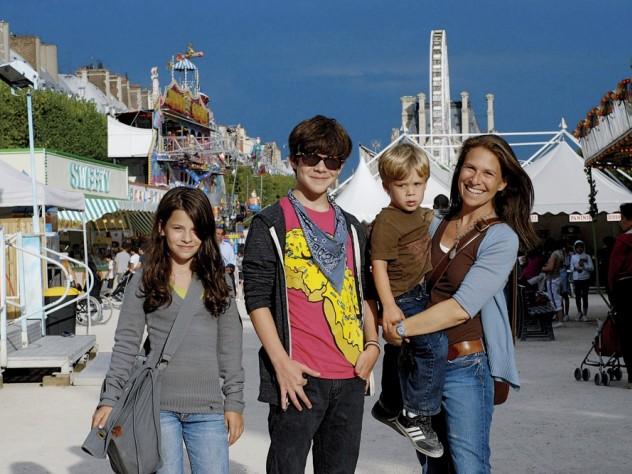 Author and photographer Deborah Copaken Kogan in Paris with her three children.