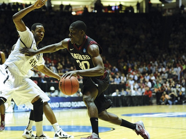 All-Ivy forward Kyle Casey '13 drives toward the hoop against Vanderbilt's Rod Odom.