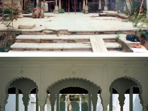 Before and after the restoration