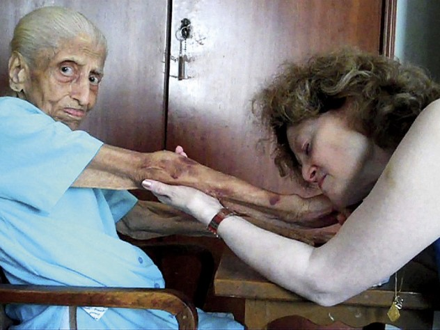 Filmmaker Julie Mallozzi intercut scenes of Lalita Bharvani at home, tending to her garden or doing yoga, with startling images of x-rays and medical tests, including an echocardiogram. One poignant scene shows Bharvani visiting her elderly mother in India.