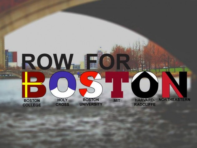 "The T-shirt features blade patterns of Boston area schools that reads ""Row for Boston."""