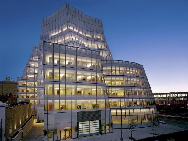 A stand-out exterior in lower Manhattan: InterActiveCorp's striking headquarters, designed by Gehry Partners (2007)